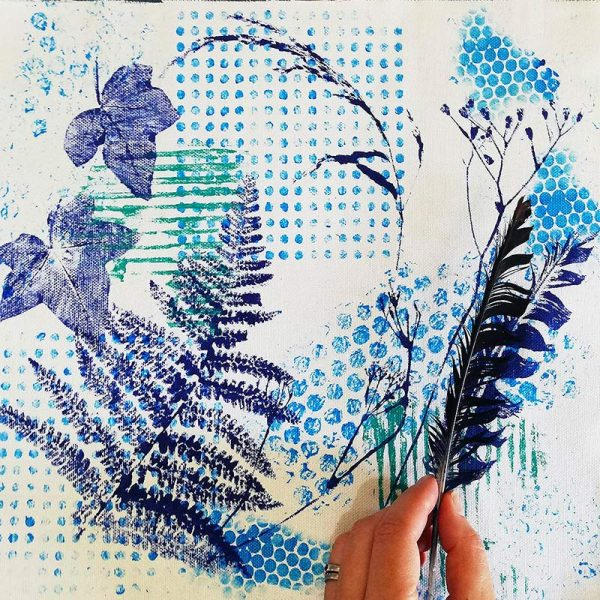 Monoprinting short course with Ellie Hipkin